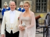PRINCE ALBERT II DE MONACO ET CHARLENE WITTSTOCK   ARRIVALS OF GUESTS AT THE WEDDING OF PRINCESSE VICTORIA OF SWEDEN AND DANIEL WESTLING IN STOCKHOLM