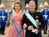 PRINCE PHILIPPE DE BELGIQUE ET PRINCESS MATHILDE  - ARRIVALS OF GUESTS AT THE WEDDING OF PRINCESSE VICTORIA OF SWEDEN AND DANIEL WESTLING IN STOCKHOLM