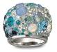 anello Swarovski chic blue