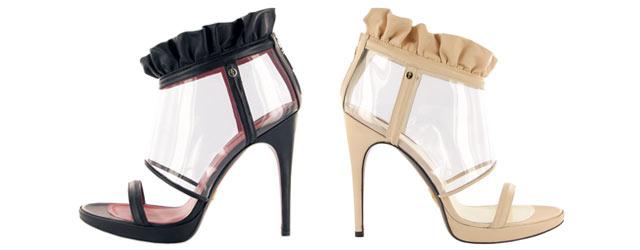 I sandali trasparenti di Cesare Paciotti