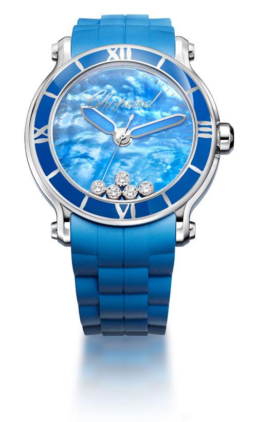 Chopard orologio Happy Sport XL blue