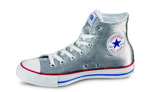 Scarpe Converse All Star argento