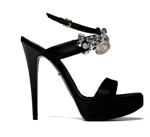 Sandalo Alberto Guardiani nero