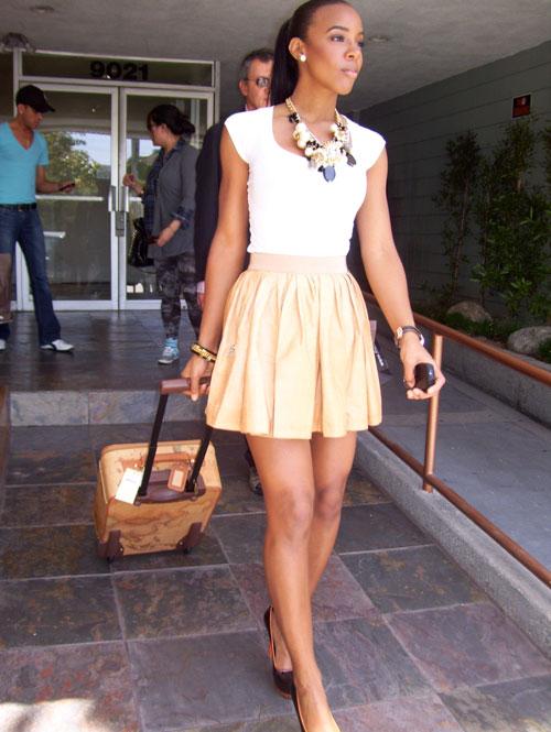 Kelly Rowland con la borsa di Alviero Martini Prima Classe