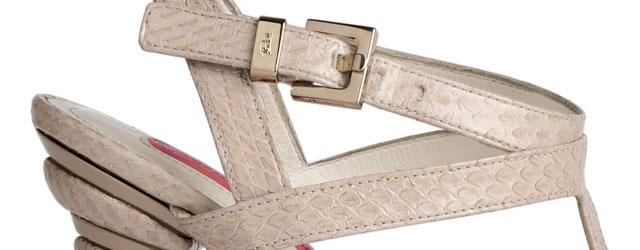 I sandali in pitone di Cesare Paciotti