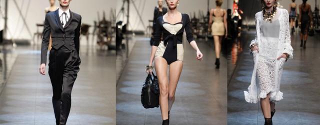 La sensualità dei contrasti nella sfilata di Dolce&Gabbana