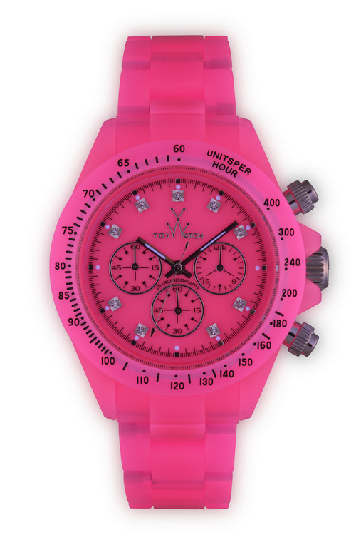 Toy-Watch-Fluo-Disco-Chrono-Raspberry-Pink