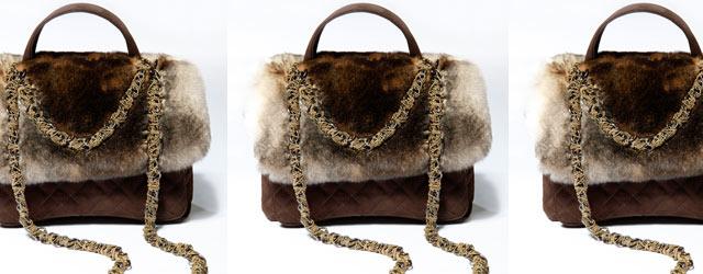 Il caldo abbraccio della pelliccia nella borsa Laura Biagiotti