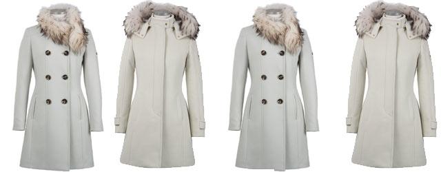 Il bianco candore dei cappotti Montecore