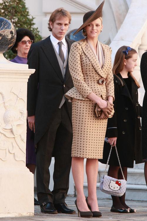 Charlene Wittstock in Armani Privè