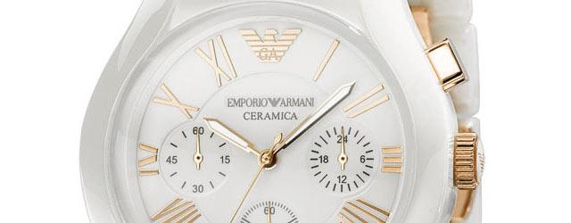 I nuovi orologi in ceramica di Emporio Armani