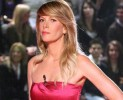 Alessia Marcuzzi in rosso per Alberta Ferretti