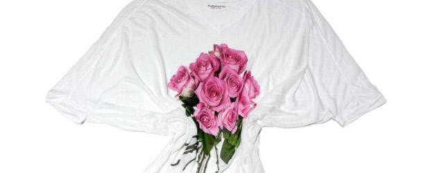 Un mazzo di fiori sulle t-shirt di Purotatto