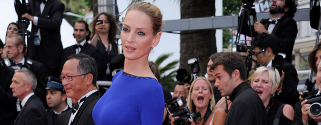 La bellezza di Uma Thurman al Festival di Cannes
