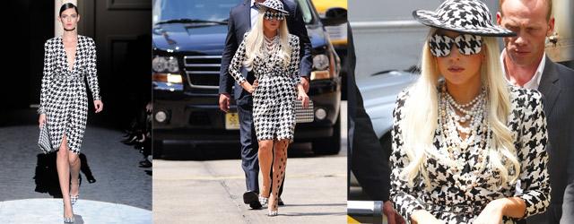 Lady Gaga stupisce in Ferragamo