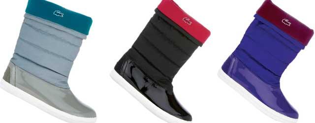 L'allegria sotto la pioggia degli stivali di gomma Lacoste