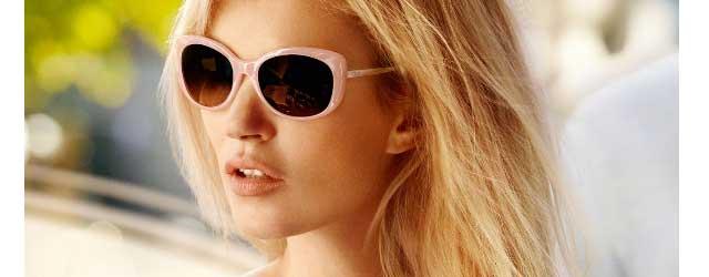 La modella ribelle Kate Moss per Vogue Eyewear