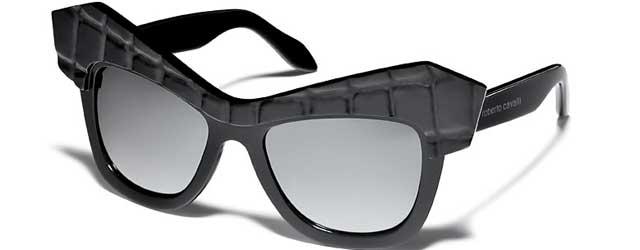 Un occhiale da diva per la collezione sole di Roberto Cavalli