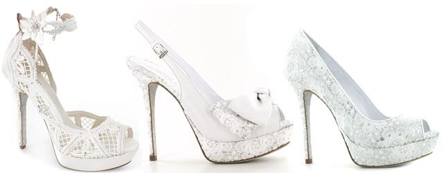 Le scarpe da sposa in pizzo firmate Loriblu