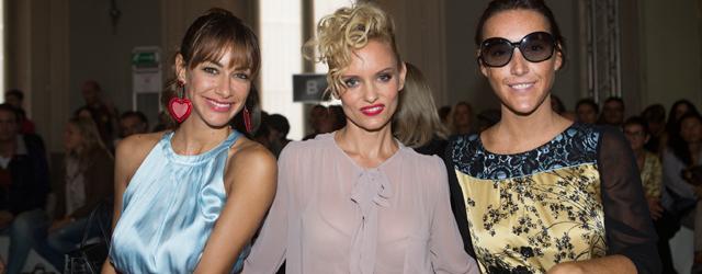 Justine, Melita e Nicola madrine alla sfilata di Massimo Rebecchi