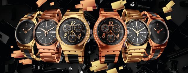 Gli orologi Swatch diventano d'oro e di cristalli
