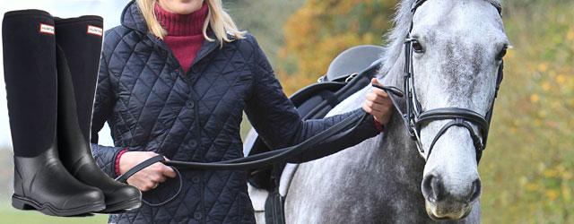 Hunter presenta gli stivali da equitazione