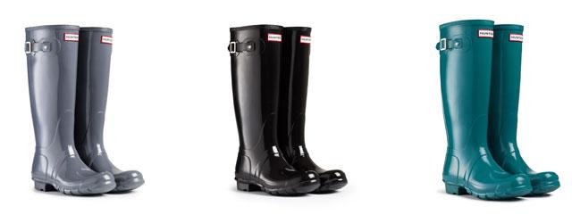 Gli Hunter boots nella variante gloss