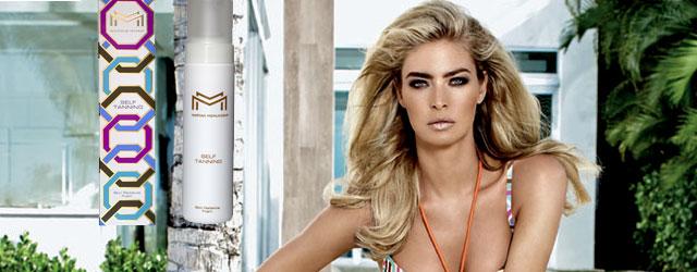 Maryan Mehlhorn presenta i prodotti più fashion per l'abbronzatura