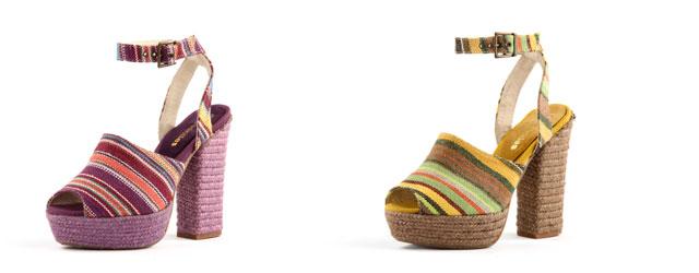 Espadrilles presenta il sandalo con il tacco in corda