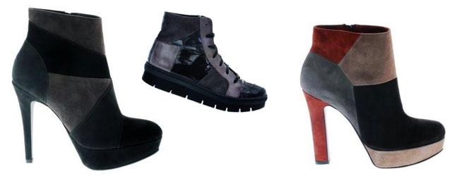 Il patchwork è sempre più di tendenza nelle calzature dell'inverno 2013