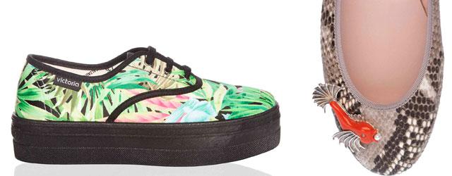 Voglia di estate con le ballerine e le sneakers dai colori accesi