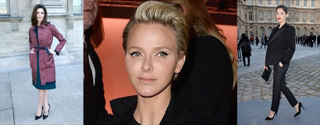 Parterre Vip alla sfilata di Louis Vuitton