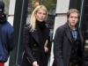 New York, New York:  Nov. 29, 2010, in the Flatiron District, American actress Gwyneth Kate Paltrow walks with her younger brother Jake, Jacob Danner Paltrow, and his girlfriend, American art photographer, Taryn Simon.