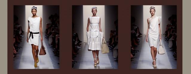 La tela bianca della sfilata di Bottega Veneta